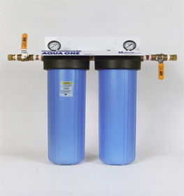 Whole house double water filtration system